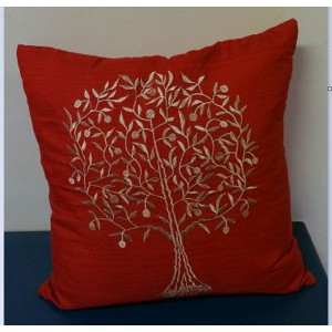 Red and Gold Cushion (Tree of Life)