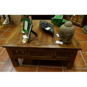 Carved Boat Teak Coffee Table