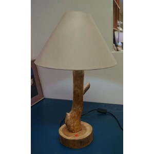 Balinese Tree Lamp (with cream shade)