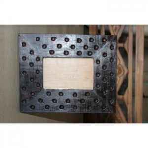 Brown Carved Wooden Picture Frame