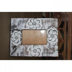 Carved Whitewash Picture Frame