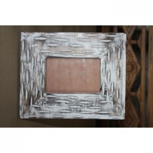 Whitewash Picture Frame  ( With Lines)