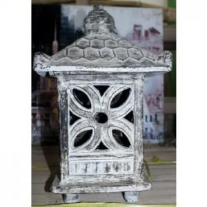 Grey Wash Terracotta Garden Lantern