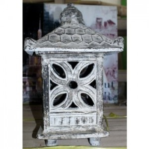 Grey Wash Terracotta Garden Lantern