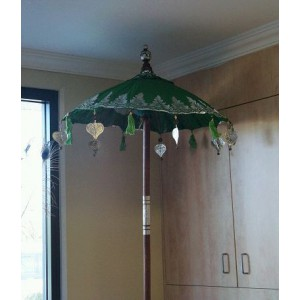 Balinese Ceremonial Umbrella - Green
