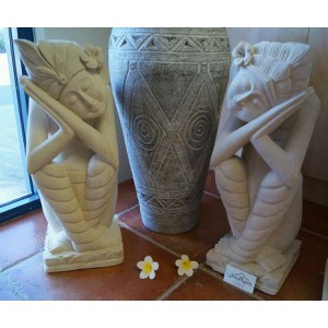 Balinese Hand Carved Dreamers Set  (of 2)