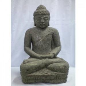 Balinese Green Stone Meditating Buddha