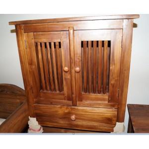 Balinese Solid Teak Side Drawer/Cabinet