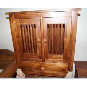 Balinese Solid Teak Side Drawer/Cabinet