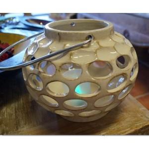 Round Ceramic Candle Lantern