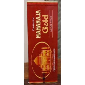 Darshan - Maharaja Gold Incense Sticks - 120 Sticks (6 Packs of 20 sticks)