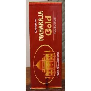Darshan - Maharaja Gold Incense Sticks - 120 Sticks (6 Packs of 20 sticks)