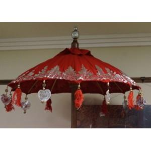 Balinese Ceremonial Umbrella - Red