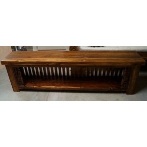 Antique Javanese Boat Teak Lowline TV Cabinet