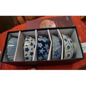 Asian Ceramic Bowls (Set of 5)