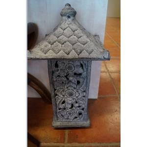 Grey Terracotta Garden Lantern
