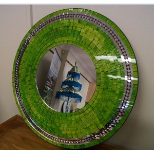 Lime Green Sparkle Mosaic Mirror