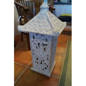 White Terracotta Garden Lantern