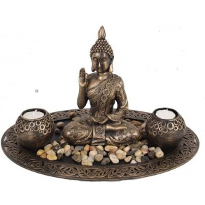 Meditating Buddha  Candle Holder