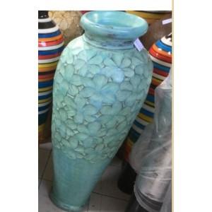 Teal Frangipani  Pot  (120 cm )