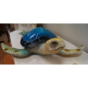 Realistic Ceramic Blue Turtle ( 38 cm)