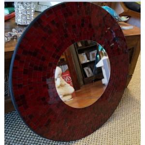 Red Sparkle Mirror
