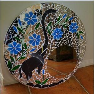 Blue Elephant Mirror