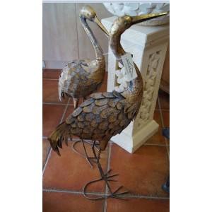 Graceful Metal Cranes