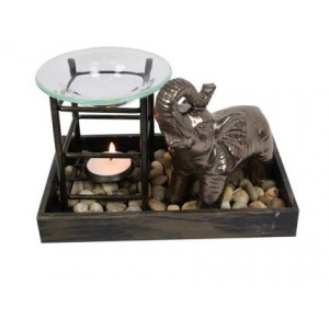 Elephant Oil Burner - Black