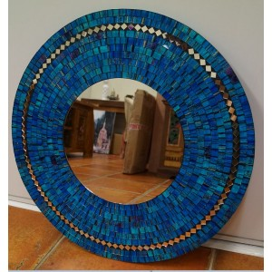 Blue Speckled Mirror
