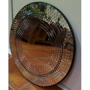 Silver and Black Mosaic Mirror