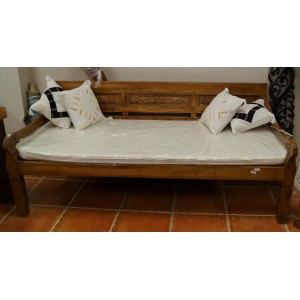 Boat Teak Balinese Daybed (Cushions Not Included)